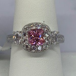 RS Covenant Sparkling Clear & Pink CZ Ring